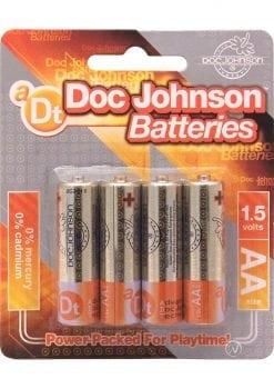 Doc Johnson AA Batteries 4 Pack