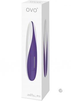 Ovo F11 Silicone Vibrator Waterproof White And Lilac