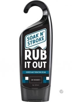 Soak N Stroke Rub It Out Shower Masturbation Cream 8 Ounce