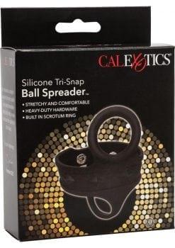 Silicone Tri-Snap Ball Spreader Black