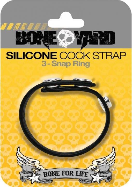 Boneyard Silicone Ball Strap 3 Snap Ring Black
