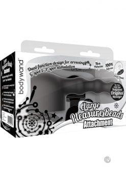 Bodywand Silicone Pleasure Beads Attachment Black Large