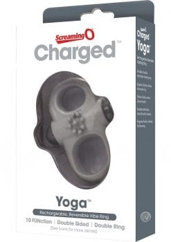 Charged Yoga Rechargeable Silicone Waterproof Cock Ring Grey