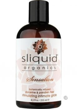 Sliquid Organics Sensation Botanically Infused Stimulating Intimate Glide 8.5 Ounce