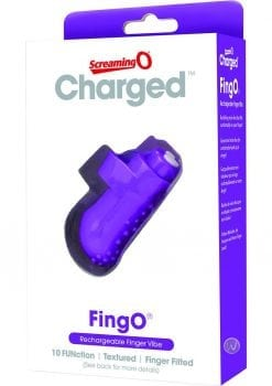 Charged FingO Rechargeable Finger Vibe Waterproof Purple