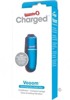 Charged Vooom Rechargeable Bullet Blue
