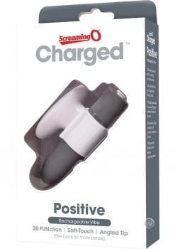 Charged Positive Rechargeable Vibe Waterproof Grey