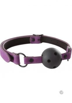 Lust Bondage Ball Gag Purple And Black