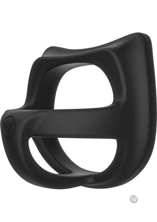 Kink Cock Jock Splitter Silicone C-Ring Black