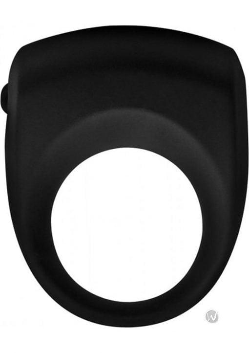 Trinity Vibes Premium Silicone Vibrating Cock Ring Black