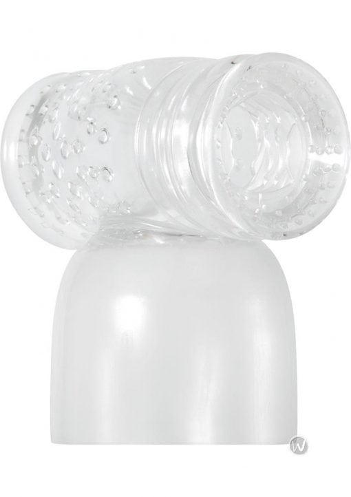 Adam and Eve Turbo Stroker Wand Attachment Clear
