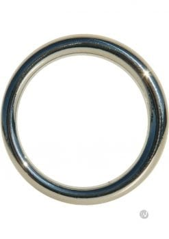 Edge Seamless O-Ring Metal Cockring Silver 1.5 Inch Diameter