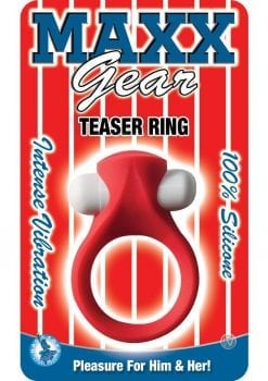 Maxx Gear Teaser Ring Silicone Waterproof Red