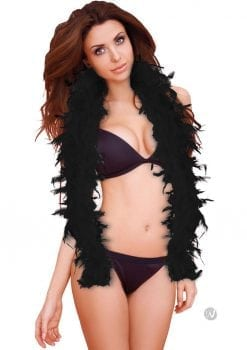 Ouch Seductive Feather Boa Black