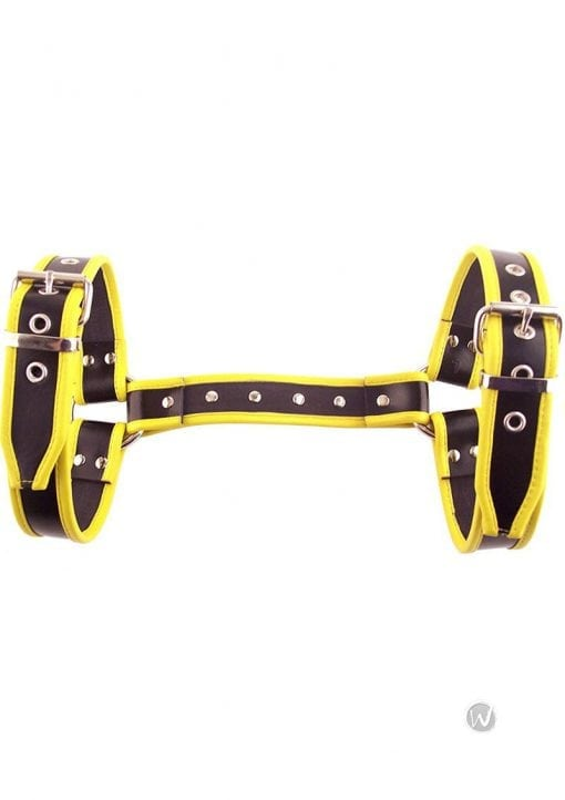 Rouge Halter Harness Lg Black and Yellow