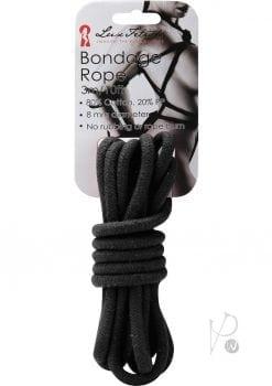 Lux Fetish Bondage Rope Black 10 Feet