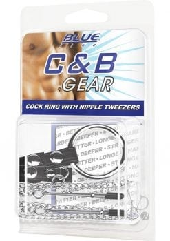 C & B Gear Cock Ring With Nipple Tweezers