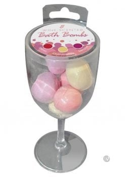 Wine Scented Bath Bombs 8/pack