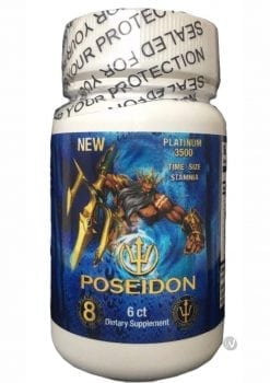 Poseidon Platinum 3500 Blue Male Stamina Supplement 6 Pills Per Bottle