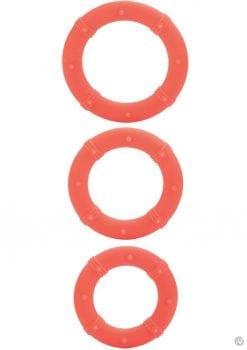 Posh Silicone Love Cock Rings Orange 3 Each
