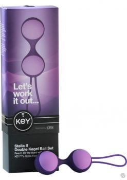 Key Stella II Double Kegel Ball Set Silicone Purple
