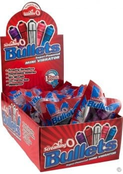 Screaming O Bullets Waterproof Assorted Colors 20 Each Counter Display