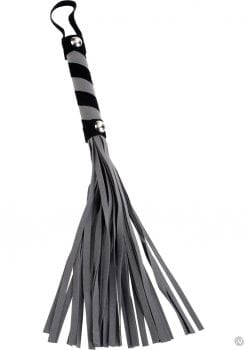 First Time Fetish Flogger 11 Inch Black And Grey
