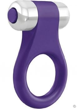 Ovo B1 Cock Ring Waterproof Lilac And Chrome