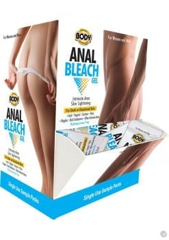 Body Action Anal Bleach Sample Counter Display 50 Pillow Packs