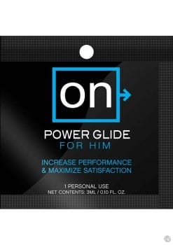 On Power Glide For Him Enhancement Gel 3 Milliliter Foil Packets 100 Each Per Bowl