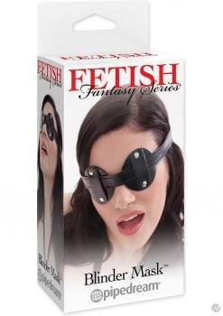 Fetish Fantasy Series Vinyl Blinder Mask Black