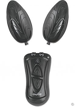 Ebony and Ivory Dual Vibrating Remote Control Eggs Black