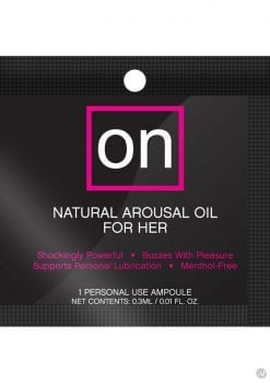 On Arousal Gel For Her Fish Bowl 75 Ampoules Per Bowl