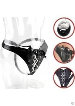 Fetish Fantasy Wired Remote Control Shock Therapy Pleasure Panty Black