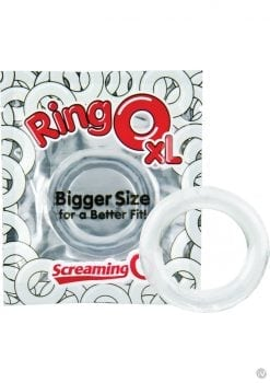 Ring O XL Cockrings Clear 36 Each Per Bowl