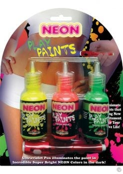 Neon Play Paints Assorted Colors 3 Each Per Pack