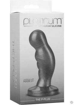 Platinum Premium Silicone The P-Plug Anal Plug Prostate Massager Charcoal