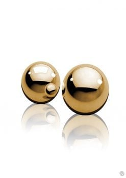 Fetish Fantasy Gold Ben Wa Balls Gold .75 Inch Diameter