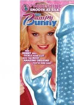 Pearlshine Smooth As Silk The Bumpy Bunny Vibrator Waterproof 7 Inch Blue