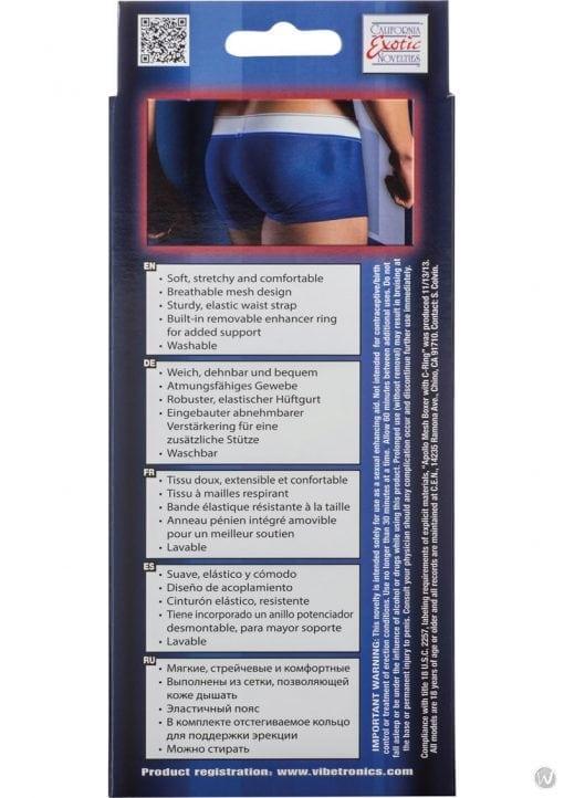 Apollo Mesh Boxer With C-Ring Blue Medium/Large