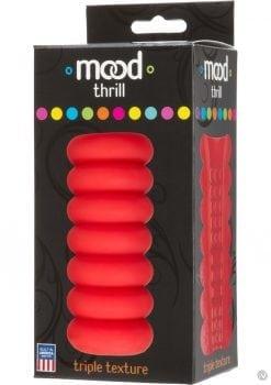Mood Thrill Triple Texture Masturbator Orange