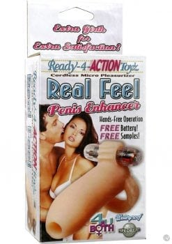 Ready 4 Action Real Feel Penis Enhancer Waterproof 5.25 Inch Flesh