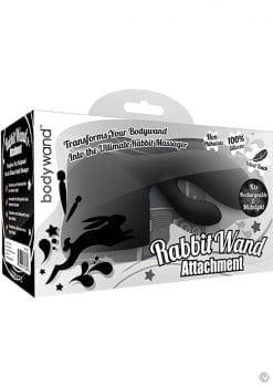 Bodywand Rabbit Wand Silicone Attachment Black
