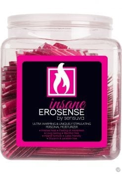 Insane Erosense Ultra Warming and Stimulating Personal Moisturizer Foil Pack 100 Each Per Bowl