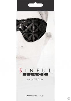 Sinful Vinyl Blindfold Black