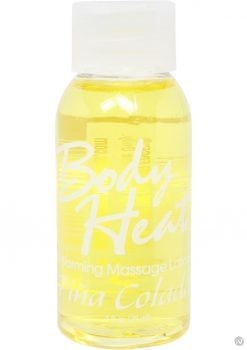 Body Heat Edible Warming Massage Lotion Pina Colada 1 Ounce