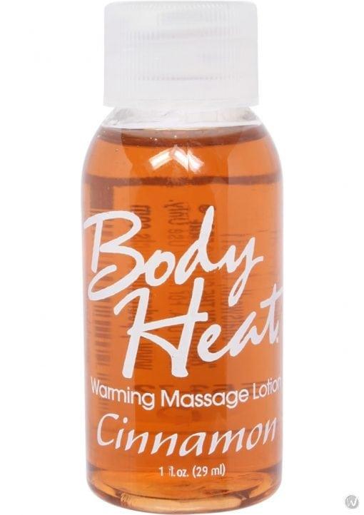 Body Heat Edible Warming Massage Lotion Cinnamon 1 Ounce