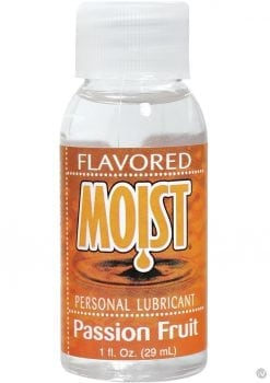 Moist Flavored Personal Water Based Lubricant Passion Fruit 1 Ounce