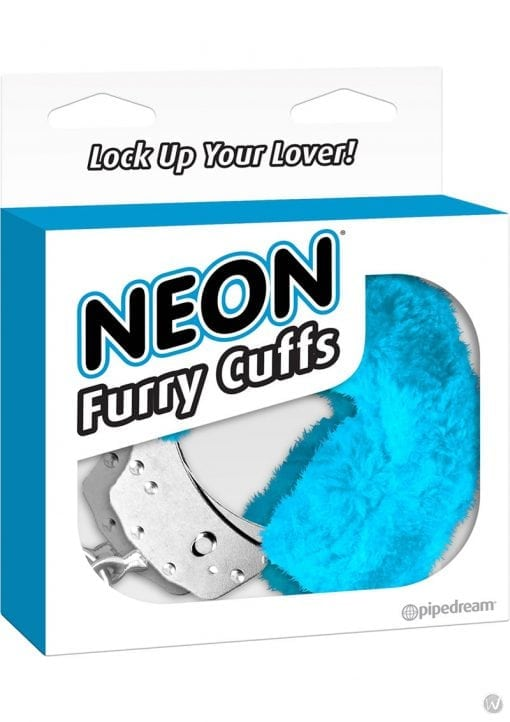 Neon Furry Cuffs Blue