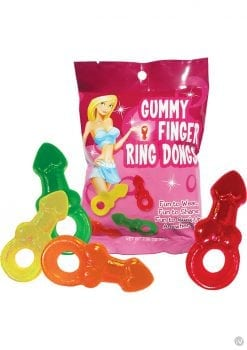Gummy Finger Ring Dongs 12 Packs Per Display